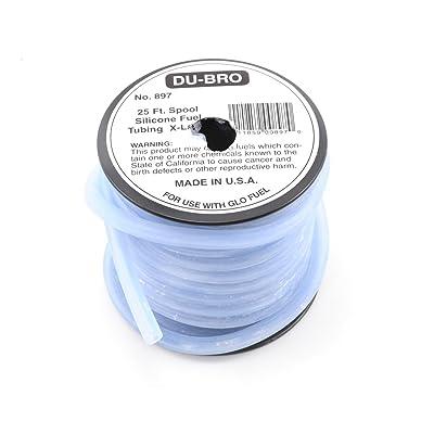 "Du-Bro 897 5/32"" x 25' Spool I.D. Silicone Tubing: Toys & Games"