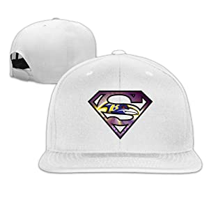 ElishaJ Adjustable Baltimore Sport Football Logo Baseball Caps White