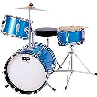 Performance Percussion pp101bl PP Drums Juego de impacto juguete para niños (3piezas), color azul metálico