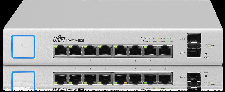 Gigabit-Switch mit SFP wei/ß /& Networks UAP-AC-PRO wei/ß Ubiquiti US-8-150W Switche Managed PoE