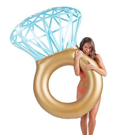 AJOG Giant Diamond Ring Inflable Colchón Piscina Círculo Juguete Flotador Para Adultos Fiesta Tubo Balsa