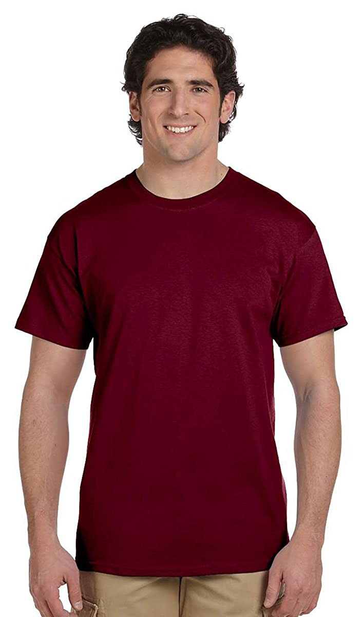 Pack of 6 Fruit of the Loom Mens 5 oz 100/% Heavy Cotton HD T-Shirt