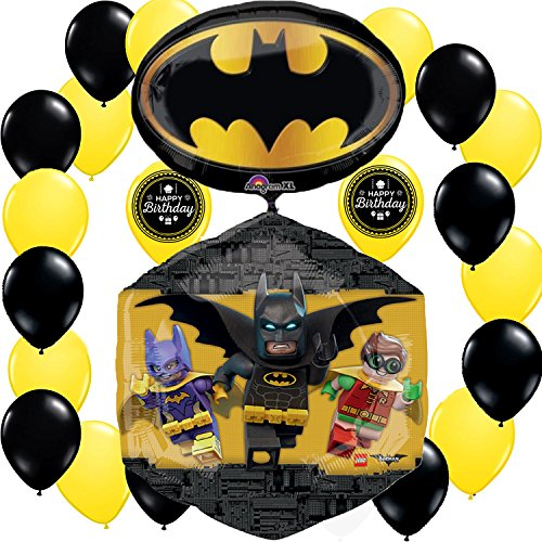 LEGO Batman Movie Deluxe Party Balloon Decorating Bundle AMZKIT712 by LEGO