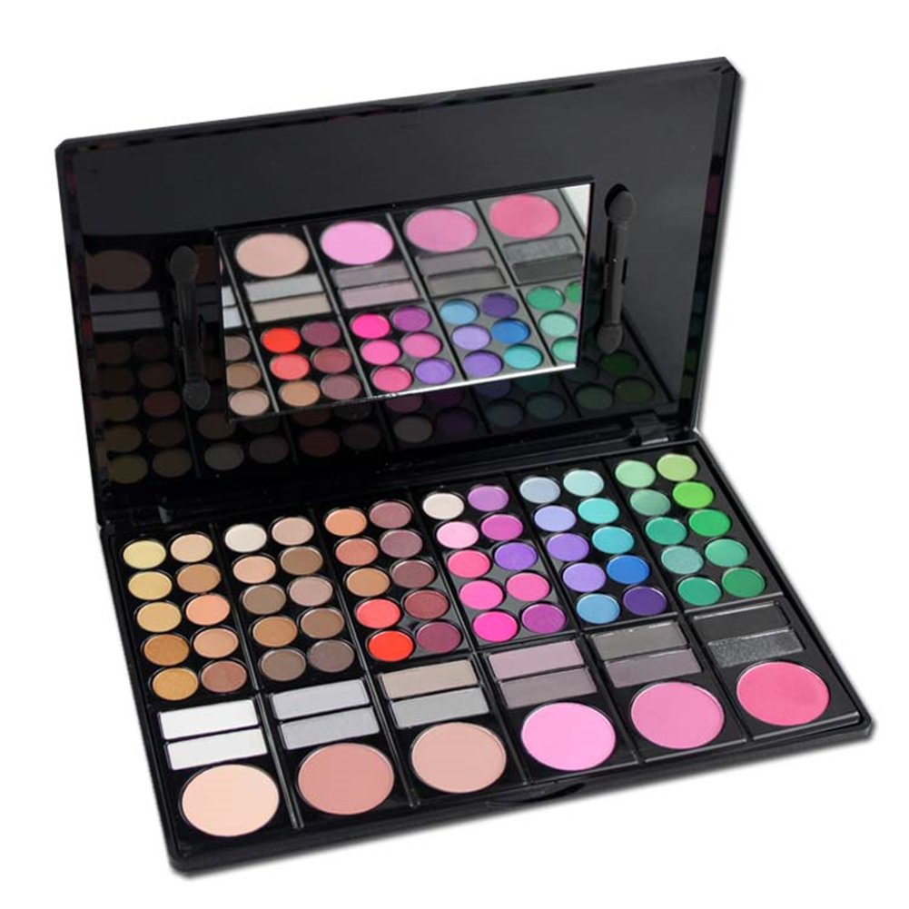 FantasyDay Pro Makeup Gift Set All In One Makeup Palette Cosmetic Contouring Kit 78 Colors Eyeshadow Palette with Blush, Face Powder and Lip Gloss #2 - Ideal Gift for Holiday by FantasyDay