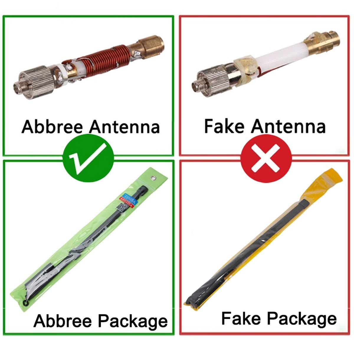 Antena t/áctica Plegable ABBREE SMA-Male VHF UHF de 42.5 Pulgadas de Doble Banda 144//430 MHz para Yaesu TYT Wouxun Ham Walkie Talkie
