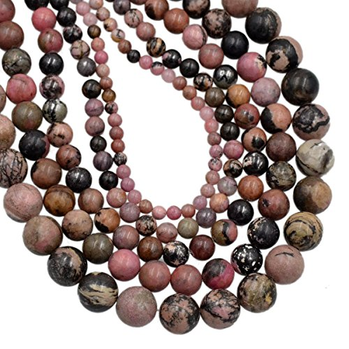 AD Beads Smooth Natural Gemstone Round Loose Beads 15
