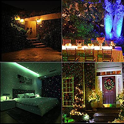 Aibay Christmas LED Laser Projector Light Waterproof Sparkling Landscape with Wireless Remote for Christmas,Holiday,Party and Garden Decorations
