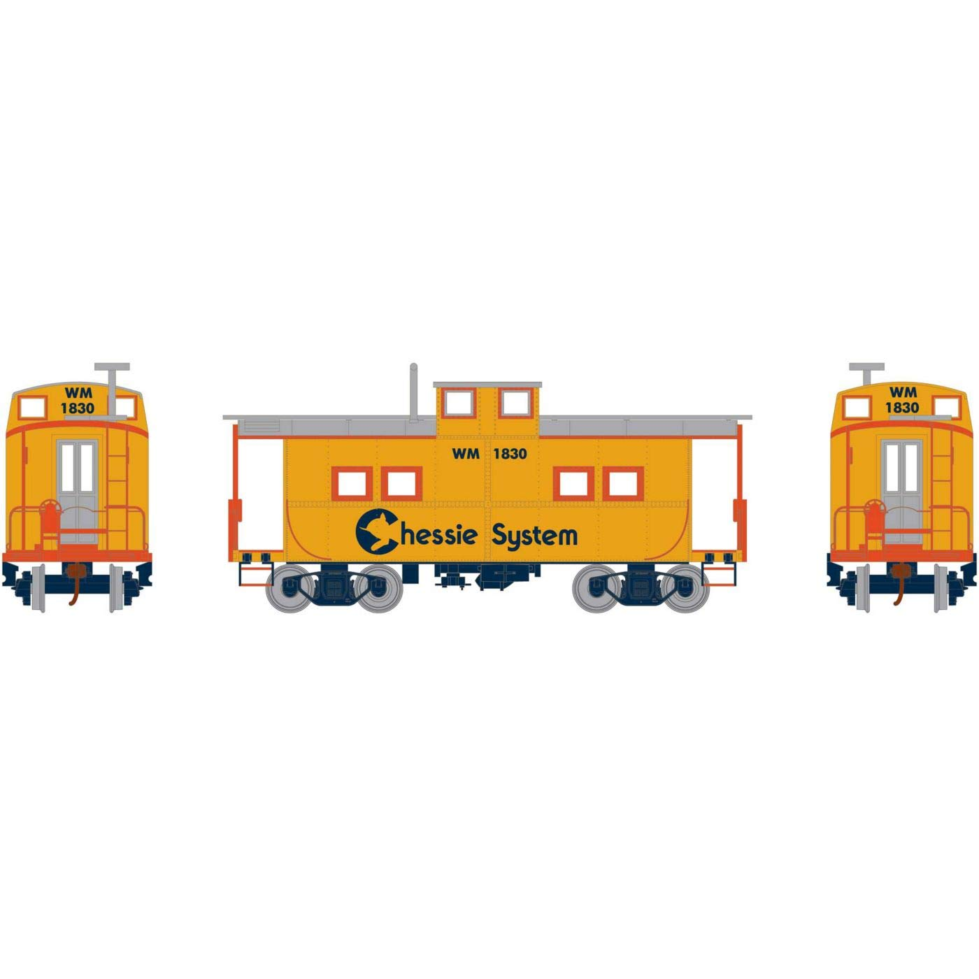 Athearn HO Eastern Caboose Chessie #1830, RND74248
