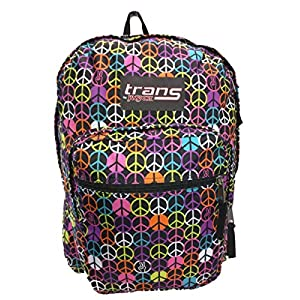 Trans by Jansport TM60 Supermax Backpack (BLACK / MULTI HIPPIE HAND)