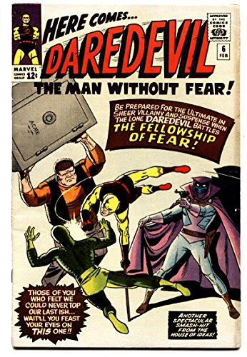 Daredevil #6 comic book 1965-Marvel-Wally Wood-Yellow costume-vf-