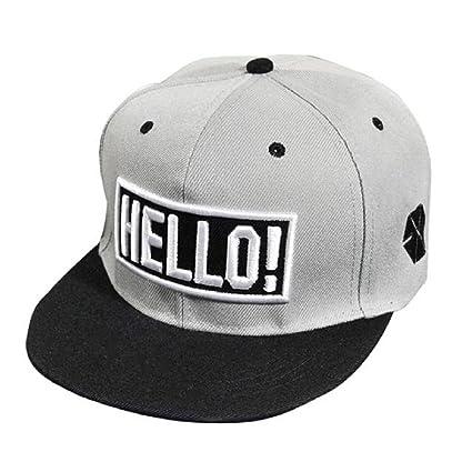 Xinantime Sombrero, Sombrero Hip Hop Adolescentes Gorra de Béisbol Ajustable Unisex (Gris)