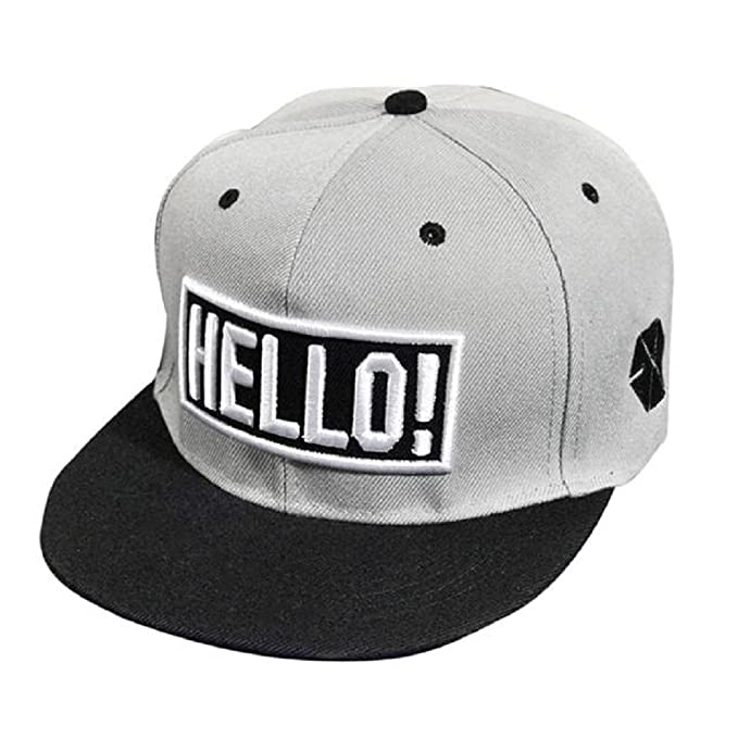 Xinantime Sombrero, Sombrero Hip Hop Adolescentes Gorra de Béisbol Ajustable Unisex (Gris): Amazon.es: Deportes y aire libre