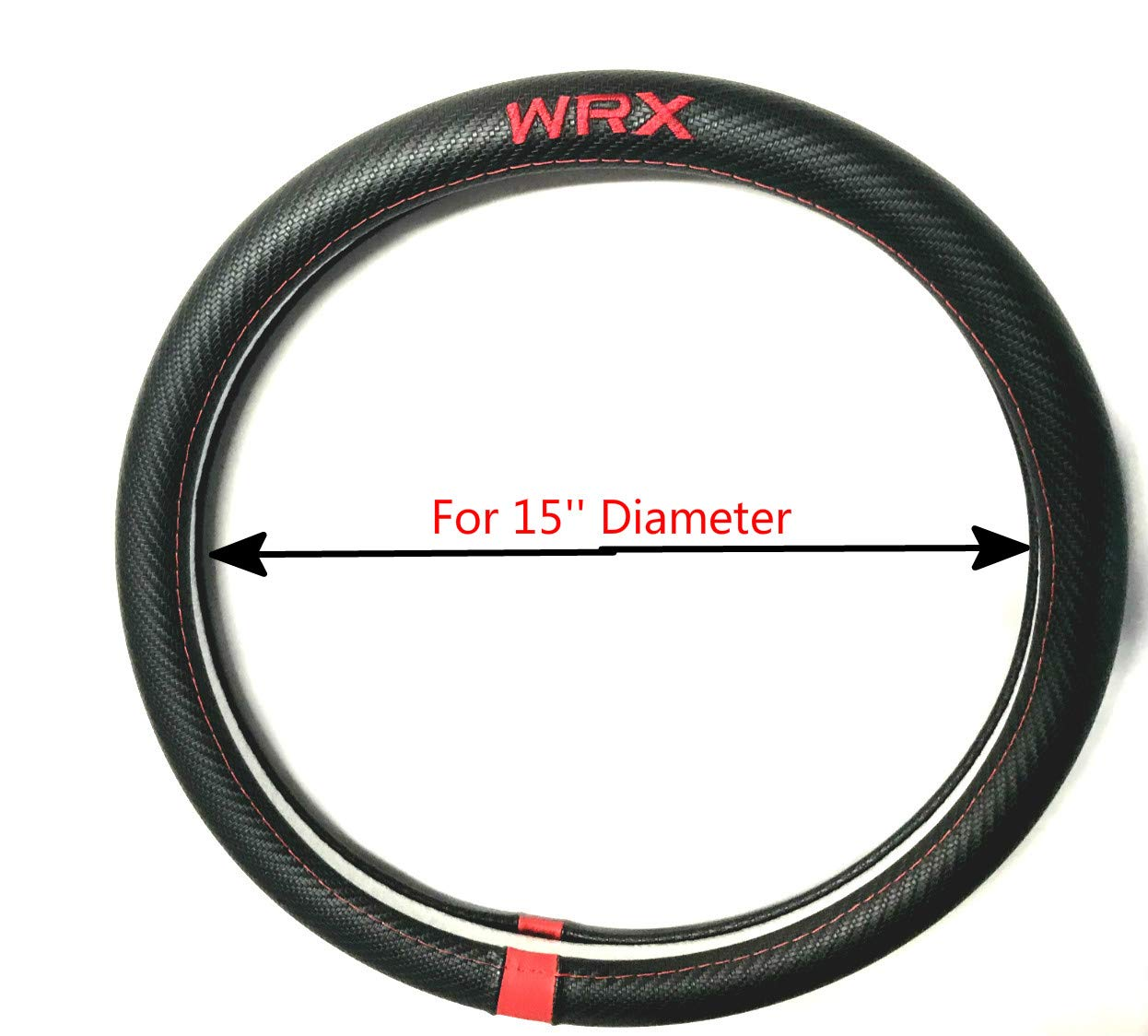 Tuesnut Carbon Fiber Style PU WRX Steering Wheel Cover 15 Diameter 5559034184