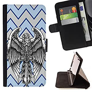 King Case - FOR Samsung Galaxy S3 III I9300 - Darkness is no darkness with thee - Prima caja de la PU billetera de cuero con ranuras para tarjetas, efectivo Compartimiento desmontable y correa para la mu?eca