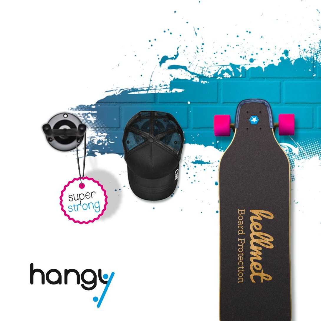Longboard And Skateboard Wall Holder   Fits For All Boards   Rack Stand  Hanger Mount Shelf: Amazon.co.uk: Sports U0026 Outdoors