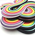 Anndason Paper Quilling Strips set 2080 Strips 26 Colors , 3/ 5/ 7/ 10 mm (8 Sets)