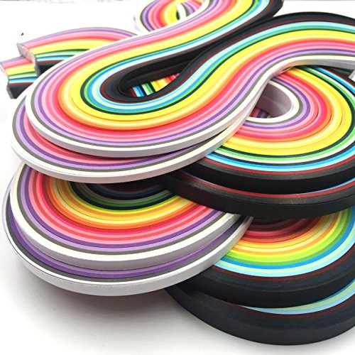 Anndason Paper Quilling Strips set 2080 Strips 26 Colors , 3/ 5/ 7/ 10 mm (8 Sets) by Anndason