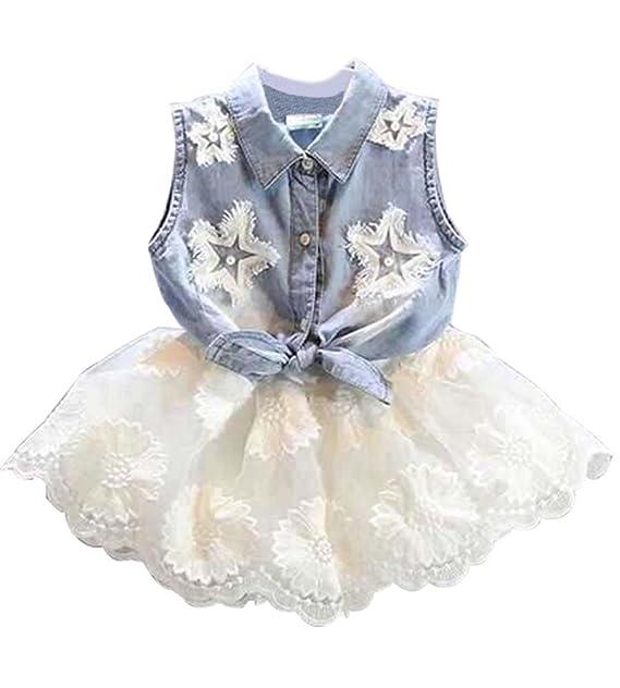 Amazon.com: uniqueone bebé niñas Juego de ropa de verano ...