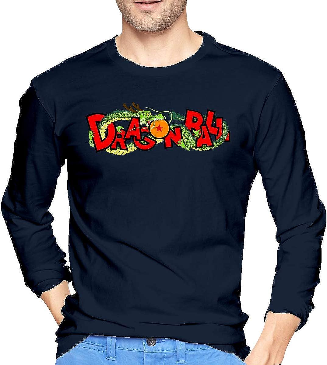 BeiTong Dragon Ball Long Sleeves Tshirt New Top for Mens Black