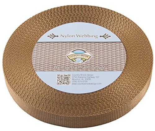 Country Brook Design | Coyote Tan Heavy Nylon Webbing (1 inch, 10 yards)
