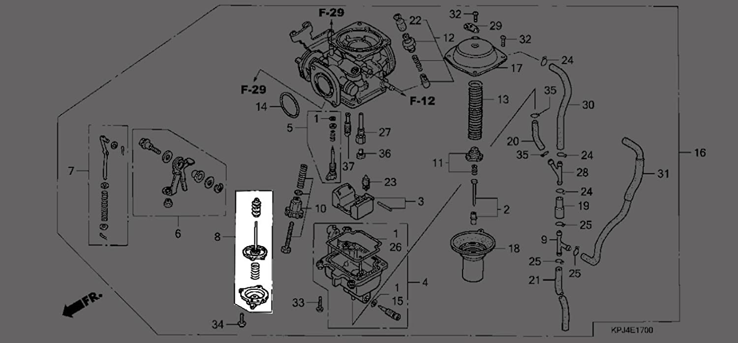 HONDA 16021-KEN-620 DIAPHRAGM SET PUMP
