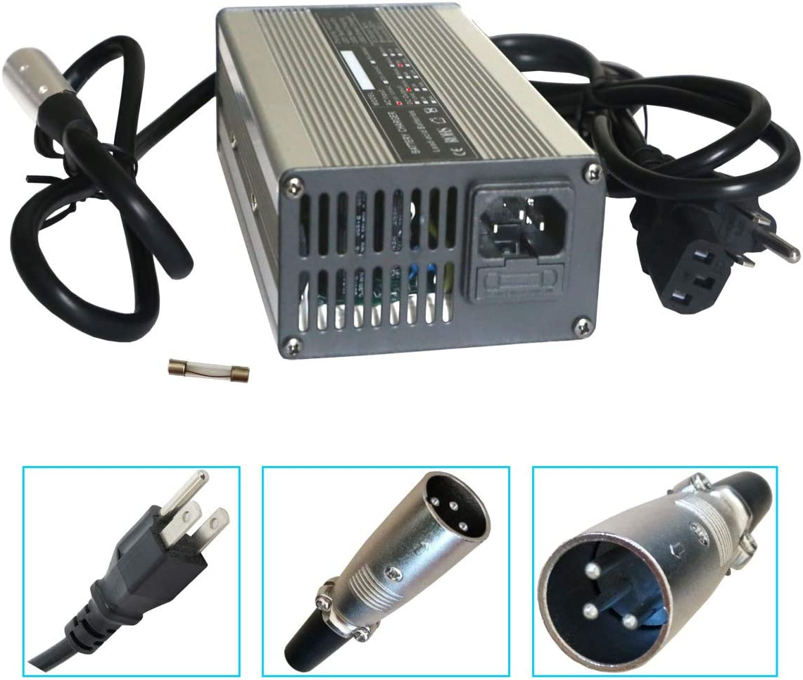 24V 5A Battery Charger with 3-Pin XLR Connector for Pride, Jazzy, Drive Medical, Golden Technologies, Shoprider, Rascal 200T/500T/301 PC/314/318 PC/320 PC/326/326A