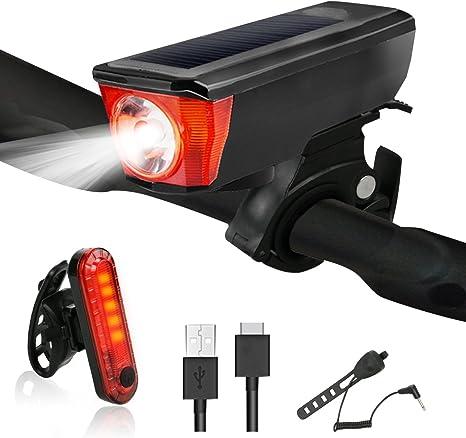 Yokunat - Juego de Luces de Bicicleta Recargables por USB, para ...