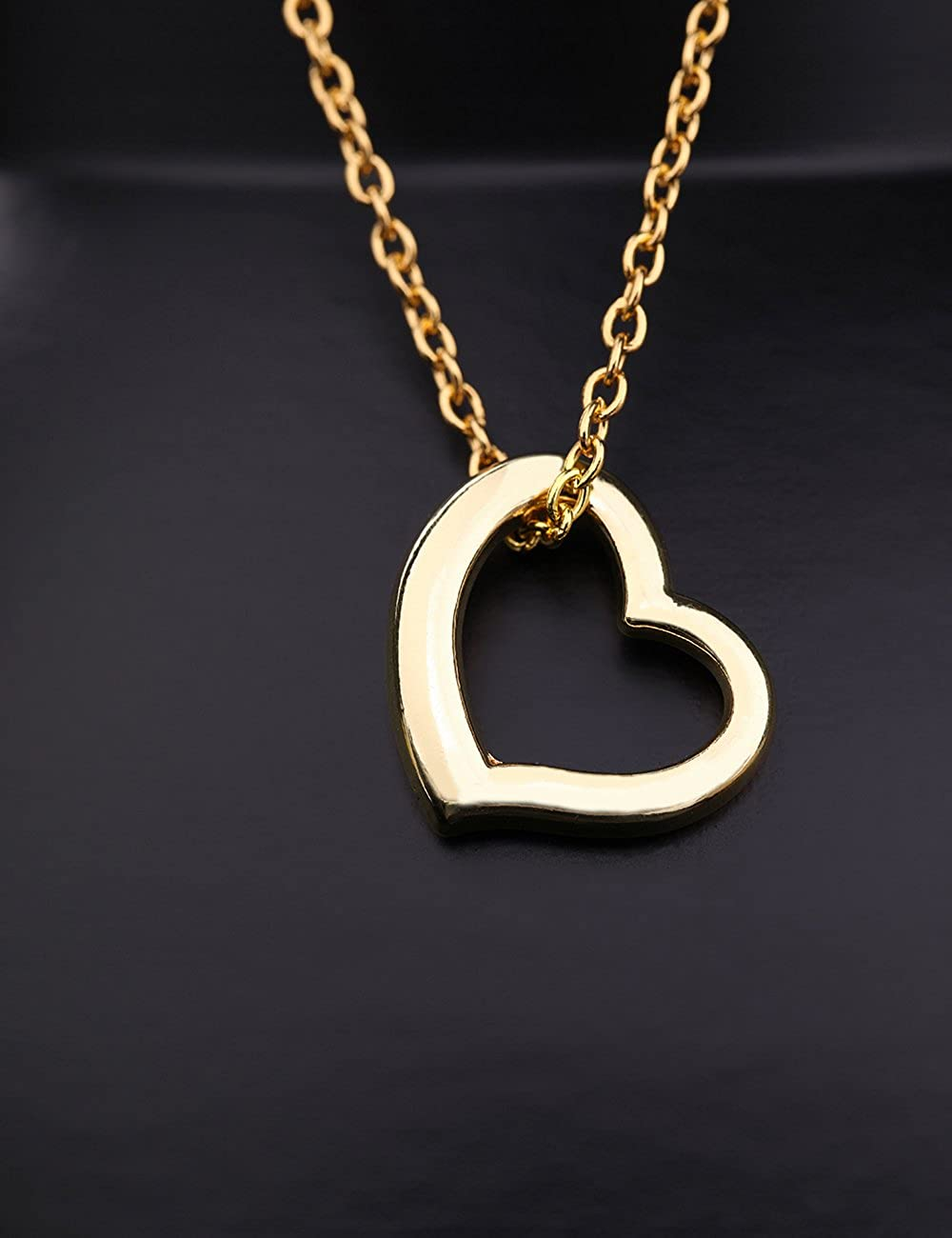 SwaraEcom 14K Yellow Gold Plated Cubic Zirconia Oval Shape Pendant for Womens Fashion Jewelry