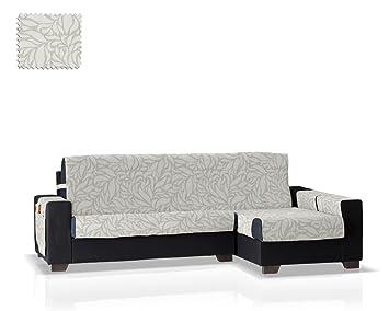 JM Textil Cubre sofá Chaise Longue Leona Brazo Derecho, Tamaño Normal (245 Cm.), Color Gris