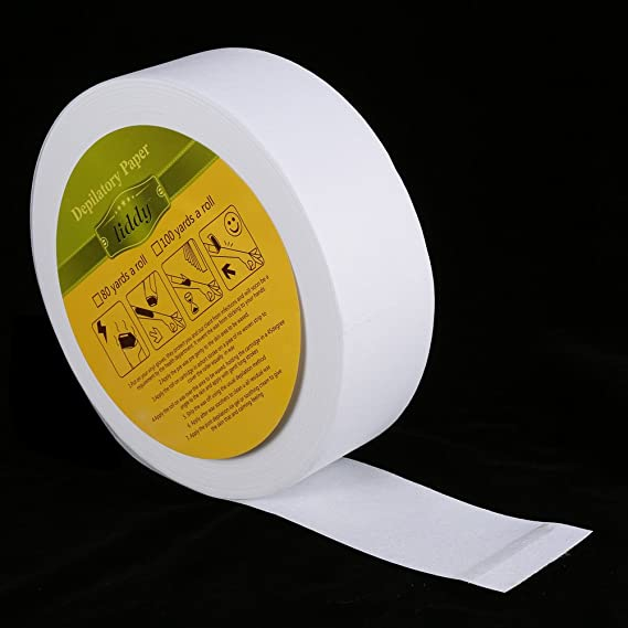 1 rollo 100 iarde la pierna la Ascella del brazo de Ascella depilatoria papel la tira encerado de Depiladora no tessuta: Amazon.es: Belleza