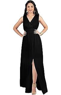d1a5770905 KOH KOH Womens Long Sleeveless Bridesmaid Cocktail Evening Maxi Dress