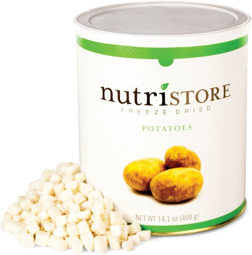 Nutristore Freeze Dried Potatoes | Perfect Healthy Snack | 40 Servings | Emergency Survival Bulk Food Storage | Amazing Taste & Quality | 25 Year Shelf Life