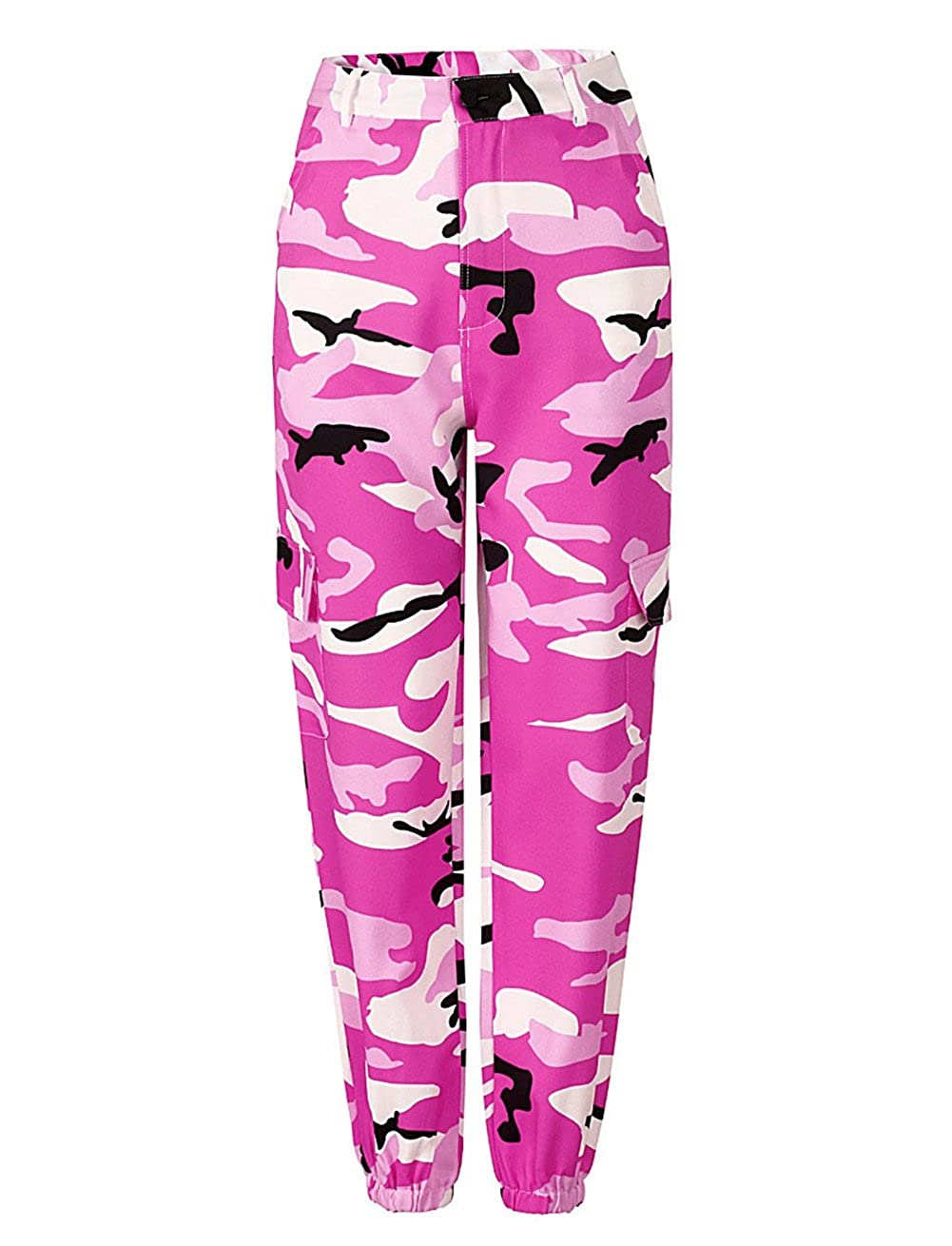 KOERIM Women's Camo Cargo Pants Casual Outdoor Sports Camouflage Trousers