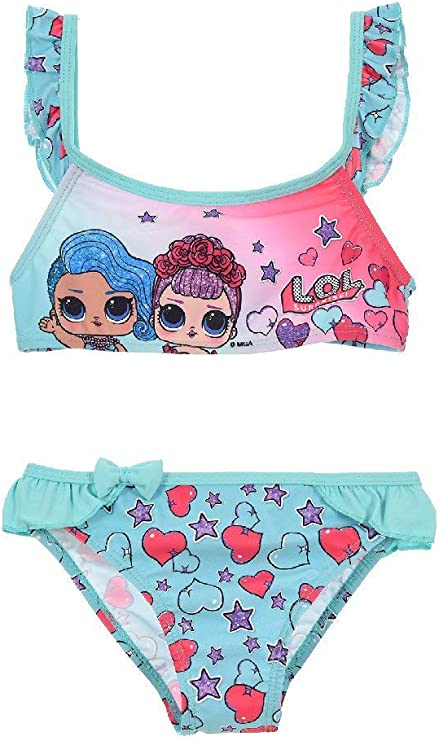 Bikini de Dos Piezas de LOL Surprise Rosa Talla 10