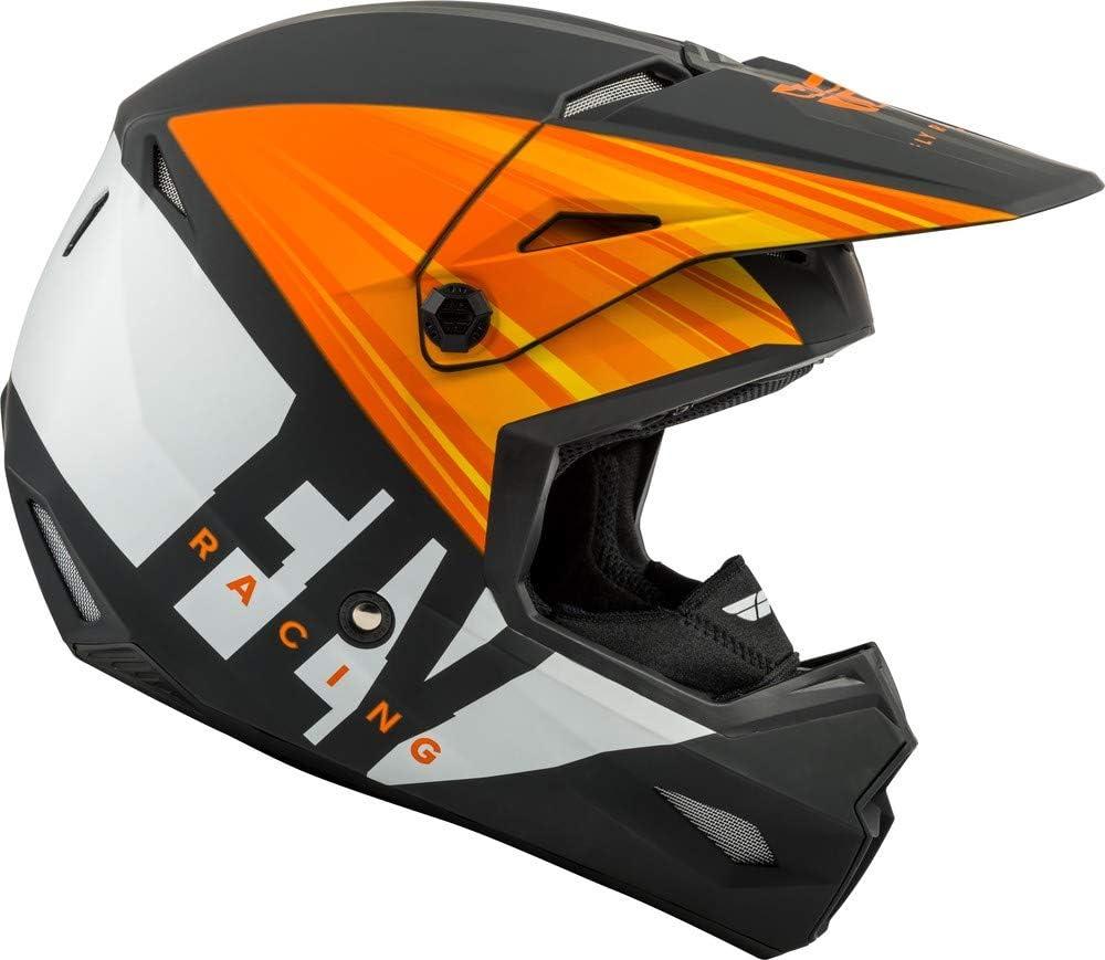 X-Large Fly Racing 2020 Kinetic Cold Weather Helmet Matte Orange//Black//White