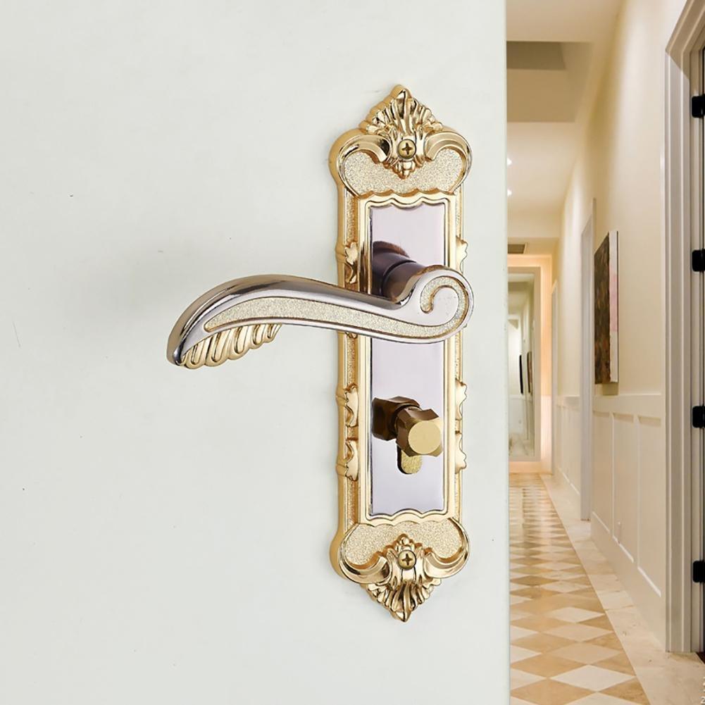 TDJDYQ Indoor House lock Wooden door lock Handle lock Mechanical door lock Project lock Suitable for bedroom / Bathroom Key unlocked Left and right hand Aluminum alloy , A