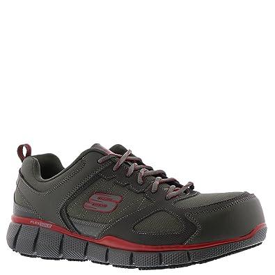 4b8873ecd45d Skechers 77132 Men s Telfin Comp Toe Work Shoe