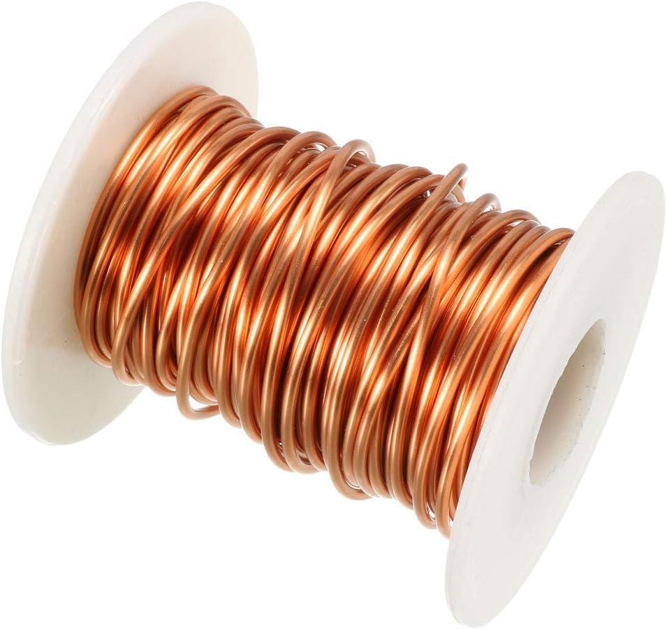 500 g Spool high temp bobina di filo 1.25 mm-RAME SMALTATO Fili di avvolgimento