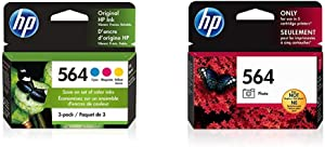 HP 564 | 3 Ink Cartridges | Cyan, Magenta, Yellow | CB318WN, CB319WN, CB320WN & 564 | Ink Cartridge | Photo | CB317WN