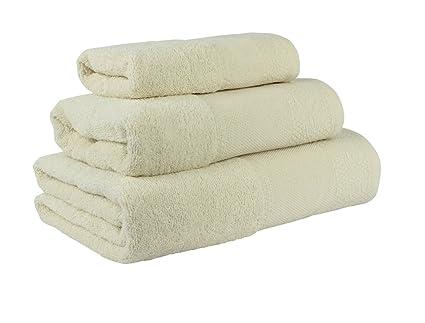(Crema) Juego de toallas de baño 3 piezas REGALITOSTV (1 toalla de baño