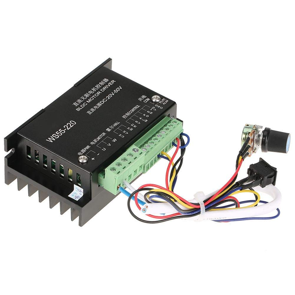 WS55-220 Motor Driver Controller, DC 48V 500W CNC Brushless Spindle BLDC  Motor Driver Controller: Amazon.com: Industrial & ScientificAmazon.com