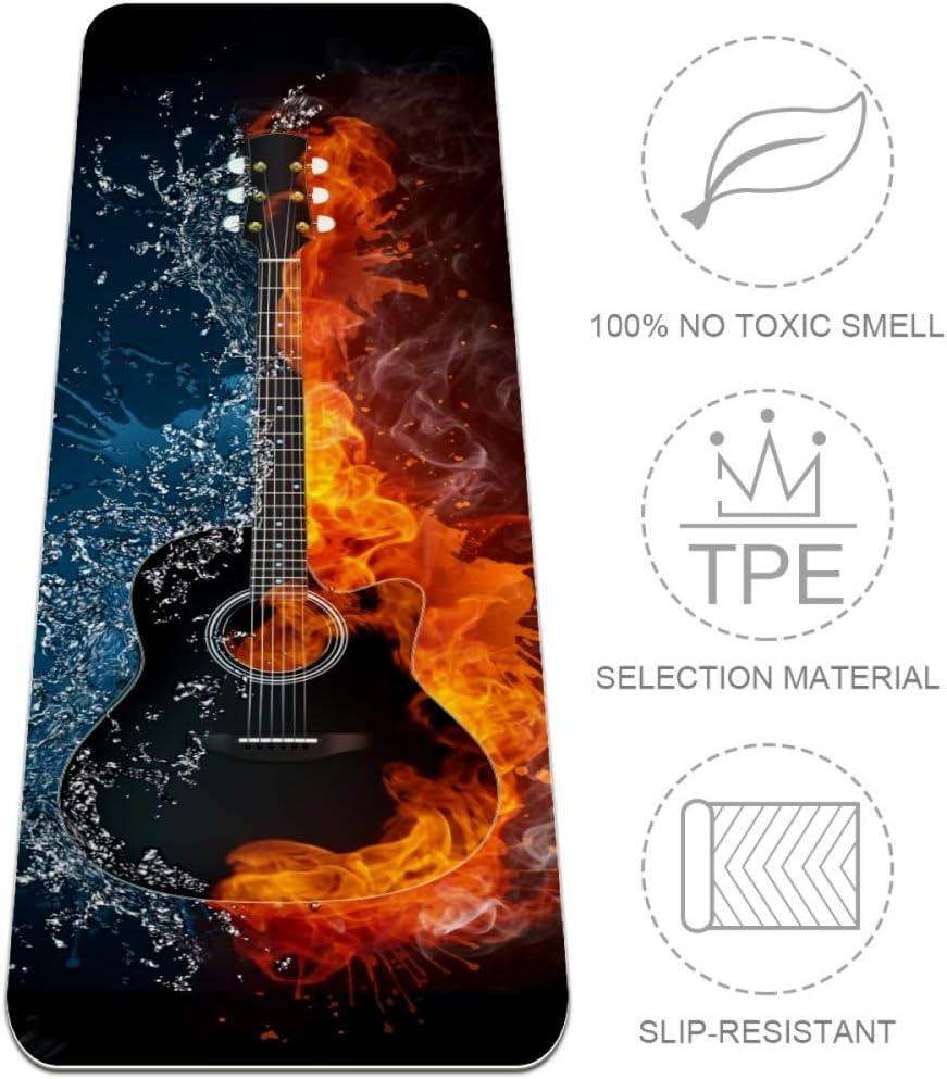 Esterilla de Yoga para Guitarra acústica en Fuego y Agua, Gruesa ...