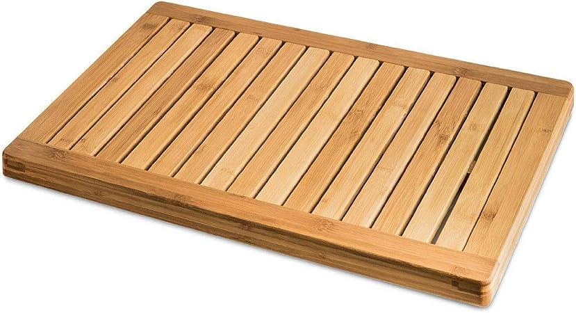 Spa Style Raised Wooden Bamboo Bathmat Non-Slip Bathroom Floor Shower Mat