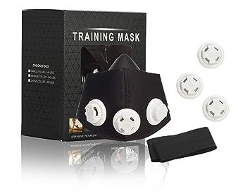 Qius home Máscara 2.0 para Entrenamiento Anaeróbico de Altura- MMA, Fútbol, Correr,