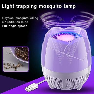 ZARLLE Lámpara Antimosquitos-Trampas para Insectos Matamoscas/Mata Mosquitos Eléctrico para Proteger a los niños, Mata Insectos Luz Ultravioleta USB LED, ...