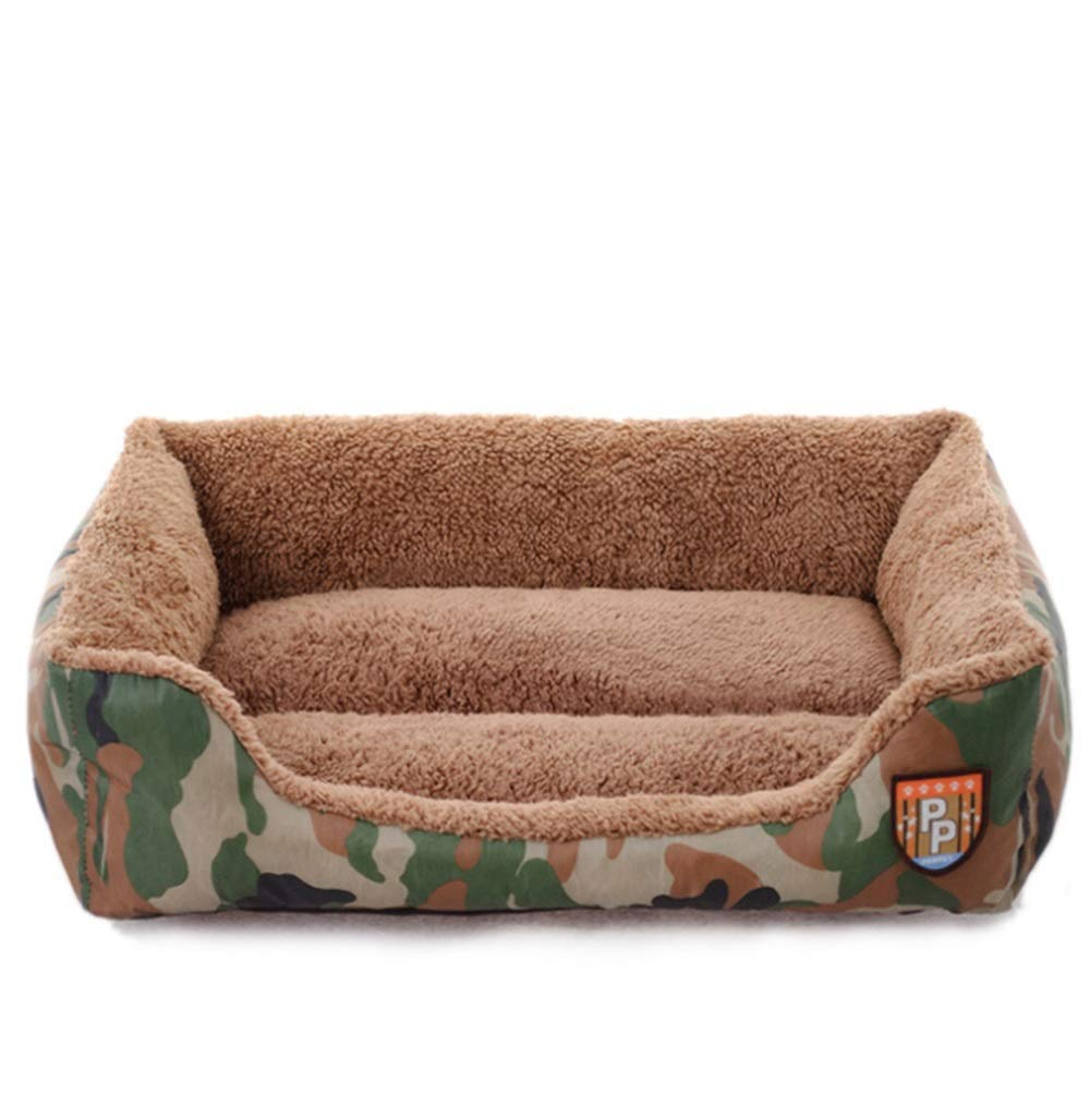 Brown S Brown S RABILTY Autumn and Winter New Pet Nest Jungle Camouflage Nest Cat Dog Sofa Bed Pet Room Cat Dog Dedicated (color   Brown, Size   S)