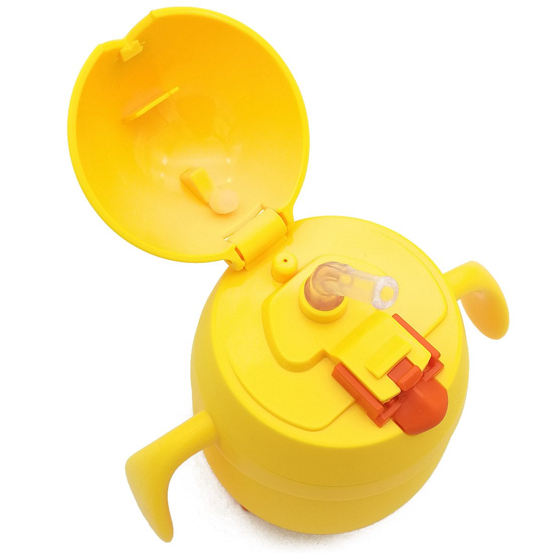Water Bottle Thermos Flask Drinkware with Straw LEAK PROOF BPA FREE Cute Cartoon Yellow Chick for Kids