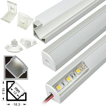 Amazon.com: 5 Pack 4 ft Corner Mount V Forma Aluminio Perfil ...