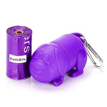 PetLoft 15-Count Durable Biodegradable Bolsa de Basura ecológica para Perros Bolsa de cajón con Lavender-Scented con tecnología EPI, un dispensador púrpura ...