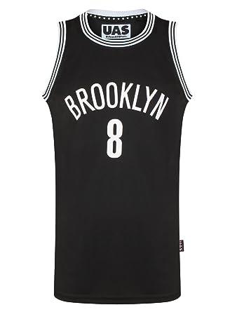 UrbanAllStars Mens Brooklyn Basketball Jersey Gym Vest Top American Sports  Sleevless T-Shirt (S 55b665a69402